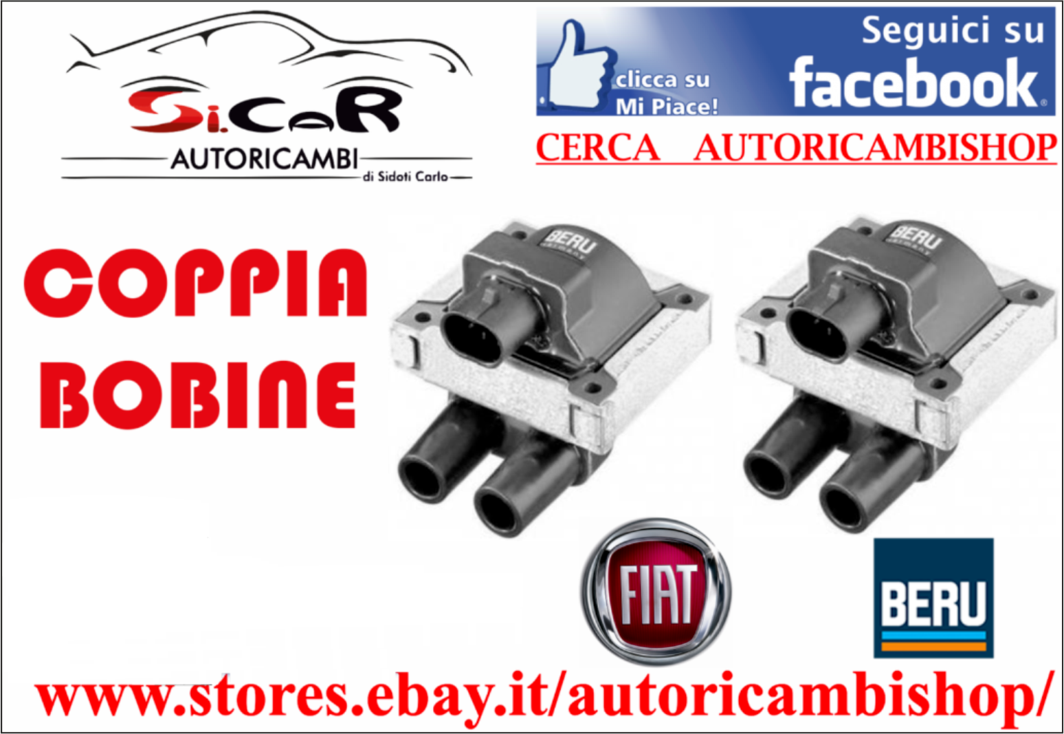 /> 2002 10303//1 Bobina Accensione FIAT MULTIPLA 1600 16V Bipower Kw76 Cv103 1999